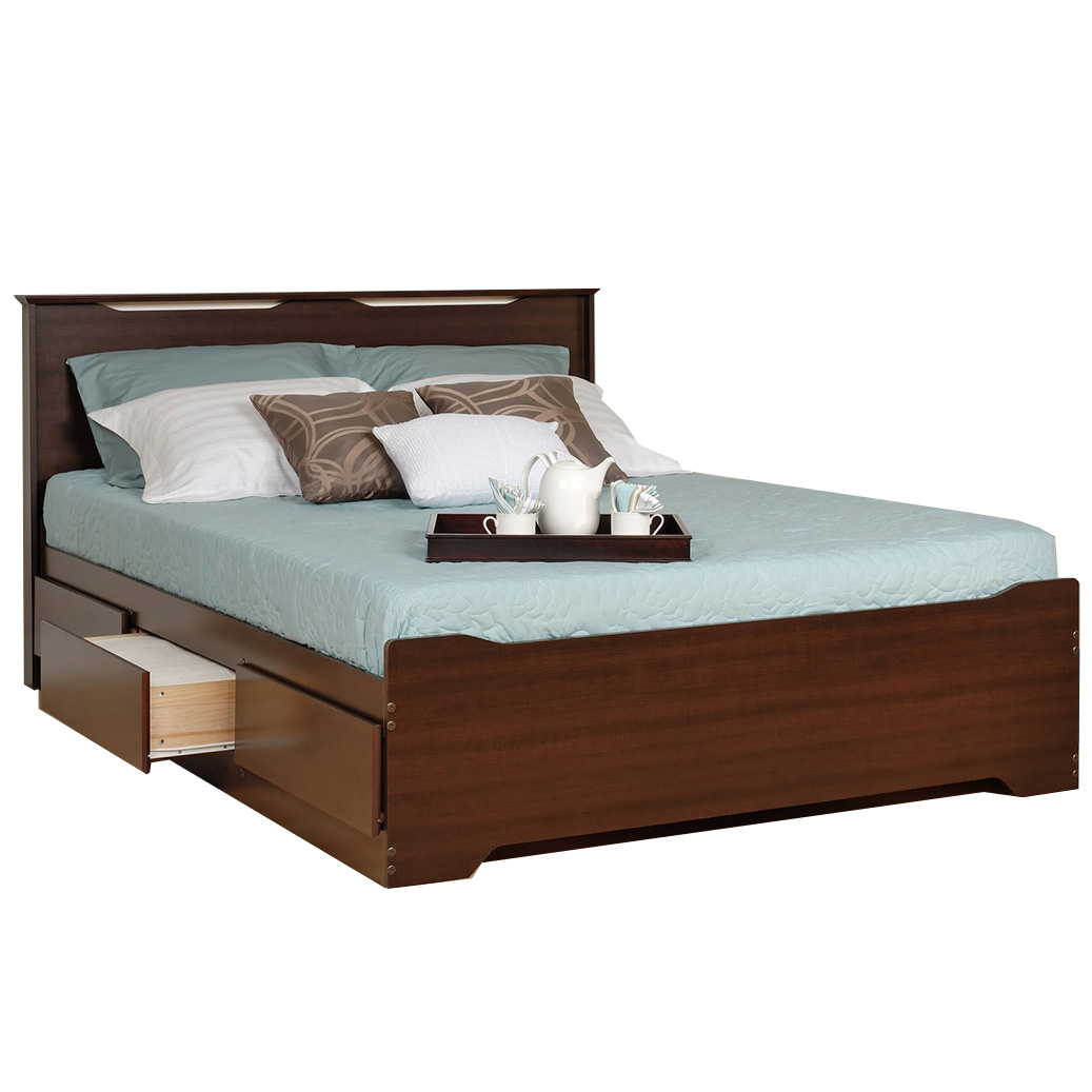 Coal Harbor Storage Platform Bed - Espresso Double and Full Beds FREE shipping Online