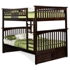 Columbia Full/Full Bunk Bed - Antique Walnut AB55504 Columbia Full/Full Bunk Bed - Antique Walnut AB55504