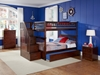 Columbia Full/Full Staircase Bunk Bed - Antique Walnut AB55804 - AB55804
