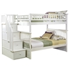 Columbia Full/Full Staircase Bunk Bed - White AB55802 Columbia Full/Full Staircase Bunk Bed - White AB55802