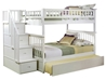 Columbia Full/Full Staircase Bunk Bed - White AB55802 - AB55802