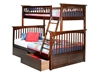 Columbia Twin/Full Bunk Bed - Antique Walnut AB55204 - AB55204