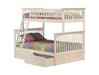 Columbia Twin/Full Bunk Bed - White AB55202 - AB55202