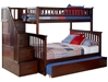 Columbia Twin/Full Staircase Bunk Bed - Antique Walnut AB55704 - AB55704