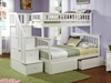 Columbia Twin/Full Staircase Bunk Bed - White AB55702 - AB55702