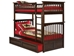 Columbia Twin/Twin Bunk Bed - Antique Walnut AB55104 - AB55104