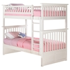 Columbia Twin/Twin Bunk Bed - White AB55102 Columbia Twin/Twin Bunk Bed - White AB55102