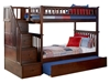 Columbia Twin/Twin Staircase Bunk Bed - Antique Walnut AB55604 - AB55604