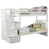 Columbia Twin/Twin Staircase Bunk Bed - White AB55602 Columbia Twin/Twin Staircase Bunk Bed - White  AB55602