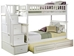 Columbia Twin/Twin Staircase Bunk Bed - White AB55602 - AB556X20