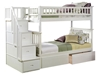 Columbia Twin/Twin Staircase Bunk Bed - White AB55602 - AB55602