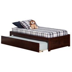 Concord Platform Bed with Flat Panel Footboard - Antique Walnut Concord Platform Bed with Flat Panel Footboard - Antique Walnut