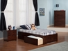 Concord Platform Bed with Flat Panel Footboard - Antique Walnut - AR80X2X14