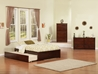 Concord Platform Bed with Flat Panel Footboard - Antique Walnut - AR80XX2X14