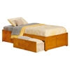 Concord Platform Bed with Flat Panel Footboard - Caramel Latte - AR80X2X17