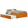 Concord Platform Bed with Flat Panel Footboard - Caramel Latte Concord Platform Bed with Flat Panel Footboard - Caramel Latte