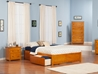 Concord Platform Bed with Flat Panel Footboard - Caramel Latte - AR80XX2X17