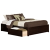 Concord Platform Bed with Flat Panel Footboard - Espresso - AR80XX2X11