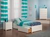 Concord Platform Bed with Flat Panel Footboard - White - AR80XX2X12
