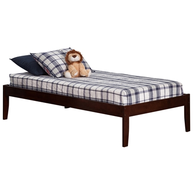 Concord Platform Bed with Open Footrails - Antique Walnut Concord Platform Bed with Open Footrails - Antique Walnut