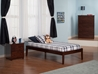Concord Platform Bed with Open Footrails - Antique Walnut - AR80X1004
