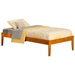 Concord Platform Bed with Open Footrails - Caramel Latte - AR80X1007