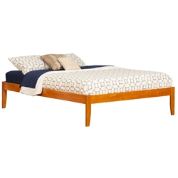 Concord Platform Bed with Open Footrails - Caramel Latte Concord Platform Bed with Open Footrails - Caramel Latte