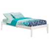 Concord Platform Bed with Open Footrails - White Concord Platform Bed with Open Footrails - White