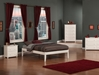 Concord Platform Bed with Open Footrails - White - AR80X1002