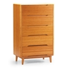 Currant 5-Drawer Chest - Caramel G0029 Currant 5-Drawer Chest - Caramel G0029