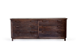 Delta 6 Drawer Dresser delta, dresser, modern, bedroom, furniture, rustic