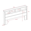 District Bookcase Headboard - HHFQ-0500-1