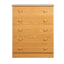 Edenvale 5-Drawer Chest - Oak OBD-3038-5LT Edenvale 5-Drawer Chest - Oak OBD-3038-5LT