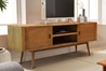 Fifties Solid Wood TV Console - Danish Honey