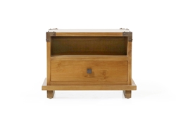 Kobe Nightstands - Danish Honey kobe, nightstand, large, small, solid, wood, teak, modern, bedroom, platform, bed