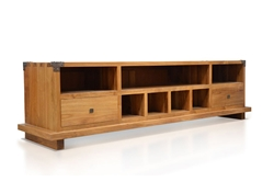 Kobe TV Console w/ Danish Honey Finish kobe, tv, console, solid, wood, teak, danish, honey, harmonia, living