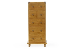 Kobe Tower Dresser - Danish Honey balinese, tower, dresser, platform, bed, set, kobe, solid, teak, wood, modern, bedroom
