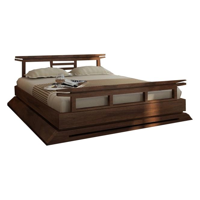 Kondo Teak Platform Bed Contemporary Platform Bed, Platform Bed Frame, Platform  Bed Set,