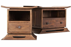 Kondo Teak Small & Large Nightstand