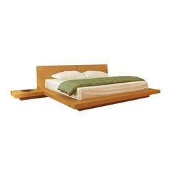 kooning platform bed oak hl koon oak bd kooning platform bed - King Size Platform Bed Frames