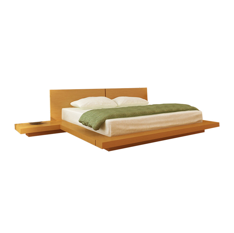 kooning platform bed oak hlkoonoakbd kooning platform bed