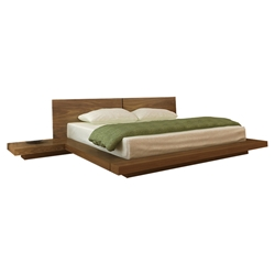 kooning platform bed walnut hl koon wal bd kooning platform bed