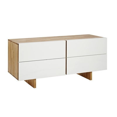 LAX Series 4-Drawer Dresser LAX.58.21.26.W LAX Series 4-Drawer Dresser LAX.58.21.26.W