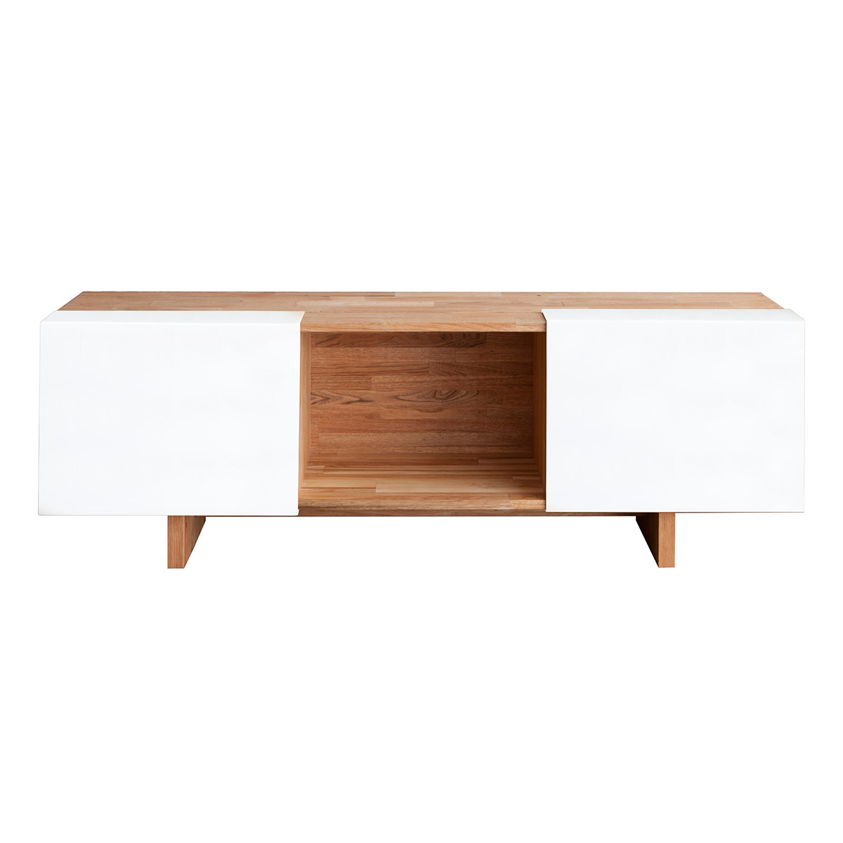 Lax Series Platform Bed lax series entertainment shelf with base lax.58.13.14.wc