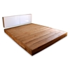 LAX Series Platform Bed - LAX.91.72.6.P-W + LAX.72.5.19.S-W.WC