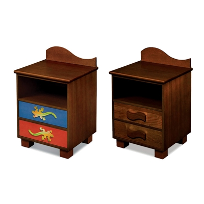 Little Lizards 2-Drawer Nightstand - Chocolate RM01-LLD Little Lizards 2-Drawer Nightstand - Chocolate RM01-LLD