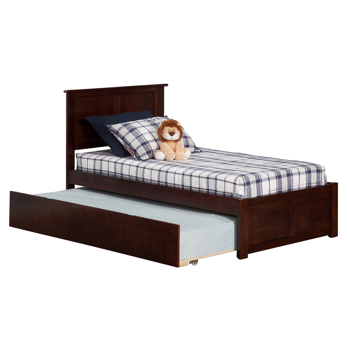 Madison Platform Bed With Flat Panel Footboard   Antique Walnut Madison Platform  Bed With Flat Panel