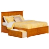 Madison Platform Bed with Flat Panel Footboard - Caramel Latte - AR86X2X17