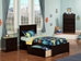 Madison Platform Bed with Flat Panel Footboard - Espresso - AR86X2X11