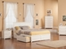 Madison Platform Bed with Flat Panel Footboard - White - AR86X2X12